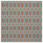 Motif indien indigène de mosaïque rustique de tissu