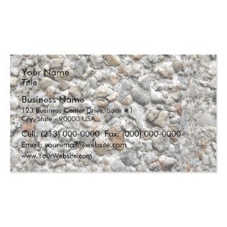 Motif irrégulier de différentes pierres de taille carte de visite standard