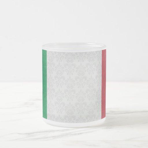 Motif italien de damassé de drapeau mugs