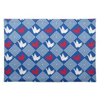Motif japonais de grues d'origami (Orizuru) Sets De Table