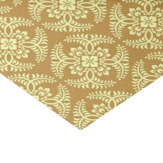 Motif japonais de médaillon, jaune de moutarde papier mousseline
