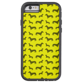 Motif jaune au néon mignon de teckel coque iPhone 6 tough xtreme