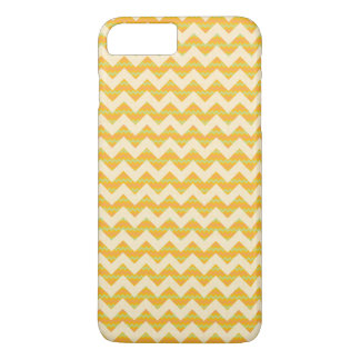 Motif jaune de chevron coque iPhone 7 plus