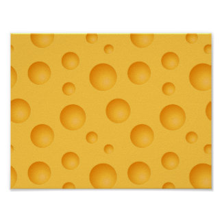 Motif jaune de fromage poster