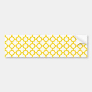 Motif jaune de Quatrefoil Autocollant Pour Voiture