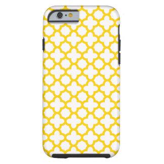 Motif jaune de Quatrefoil Coque iPhone 6 Tough