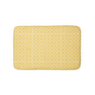 Motif jaune de Quatrefoil Tapis De Bain