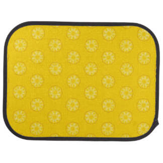Motif jaune de tranches d'ananas tapis de sol