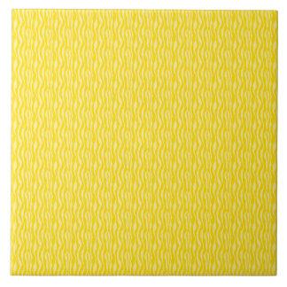 Motif jaune d'impression de zèbre carreau