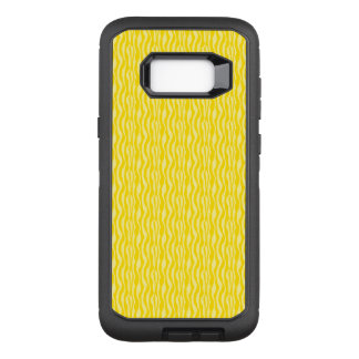 Motif jaune d'impression de zèbre coque samsung galaxy s8+ par OtterBox defender