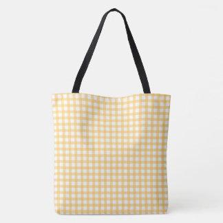 Motif jaune en pastel de contrôle de guingan sac