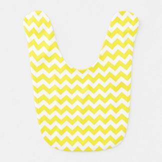 Motif jaune et blanc classique de Chevron Bavoir
