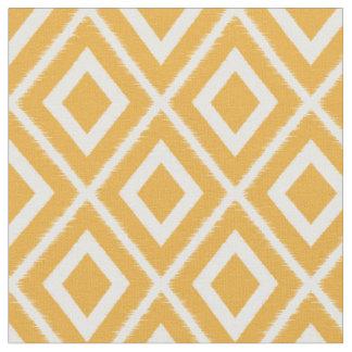 Motif jaune et blanc de moutarde moderne d'Ikat Tissu