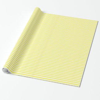Motif jaune et blanc de rayure papier cadeau