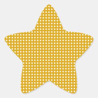 Motif jaune et blanc mignon de diamant autocollant en étoile