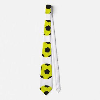 Motif jaune et noir de ballon de football cravate