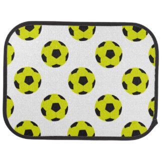 Motif jaune et noir de ballon de football tapis de sol