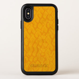 Motif jaune et orange de peau de serpent