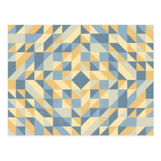 Motif jaune gris de triangle carte postale