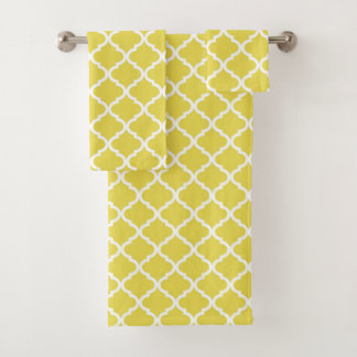 Motif jaune lumineux à la mode de Moraccan