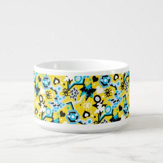 Motif jaune lumineux de cool d'art de bruit de bol pour chili