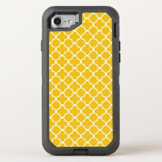 Motif jaune lumineux de Quatrefoil Coque Otterbox Defender Pour iPhone 7