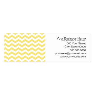 Motif jaune pâle et blanc de Chevron Carte De Visite Petit Format