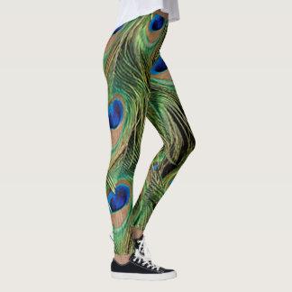 Motif Legging d'impression de paon