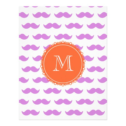 Motif lilas de moustache, monogramme blanc de cora prospectus