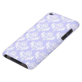 Motif lilas et blanc de damassé coque iPod touch