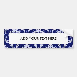 Motif lumineux de damassé de bleu marine adhésif pour voiture
