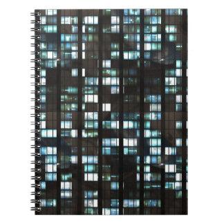Motif lumineux de fenêtres carnet à spirale
