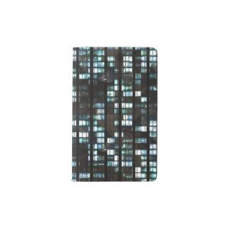 Motif lumineux de fenêtres protège-carnet de poche
