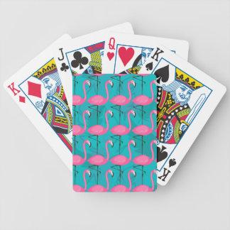 Motif lumineux de flamant jeu de cartes