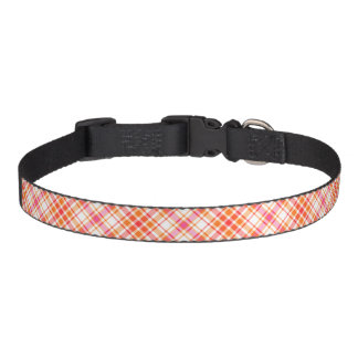Motif lumineux de plaid d'orange et de roses colliers pour chiens