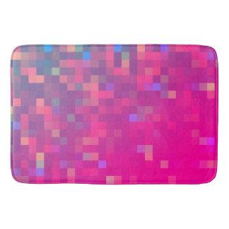 Motif lumineux et coloré de pixel tapis de bain