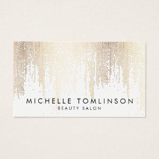 Motif Luxe de pluie de confettis d'or de Faux Cartes De Visite