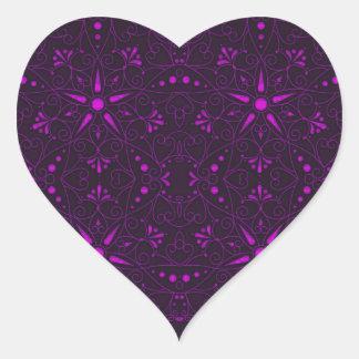 motif majestueux E Sticker Cœur