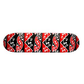 Motif maori traditionnel de Kowhaiwhai Koru Mini Skateboard 18,4 Cm