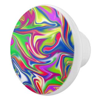 Motif Marbleized de sucrerie, bouton en céramique
