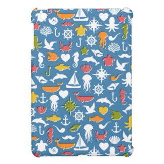 Motif marin de symboles étuis iPad mini