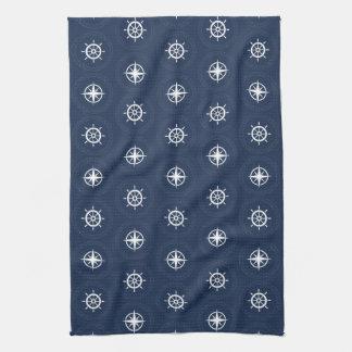 Motif maritime d'outil serviette éponge
