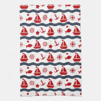 Motif maritime mignon serviettes pour les mains