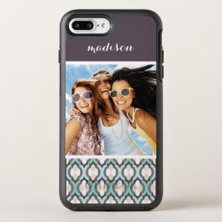 Motif marocain de photo et de turquoise de nom coque OtterBox symmetry iPhone 8 plus/7 plus