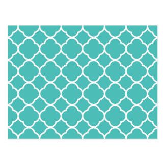 Motif marocain de turquoise carte postale