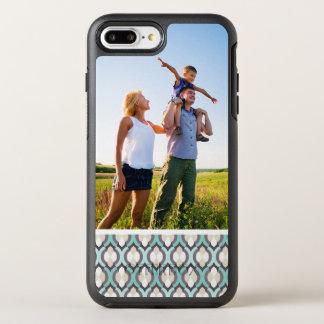 Motif marocain de turquoise de photo coque otterbox symmetry pour iPhone 7 plus