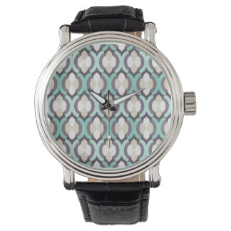 Motif marocain de turquoise montres cadran