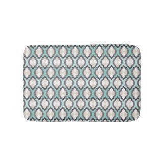 Motif marocain de turquoise tapis de bain