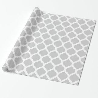 Motif marocain gris et blanc papiers cadeaux