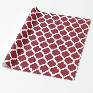 Motif marocain marron et blanc papier cadeau